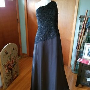 Ambiance by Andrew Adela Beaded Black Gown